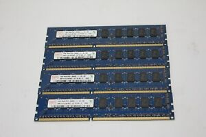 Lot of 4 modules 1GB 1rx8 PC3-8500E RAM SERVER 4GB total