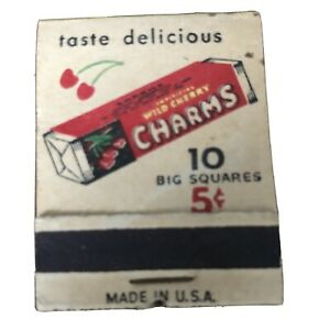 Vintage Matchbook Charms Candy Roll Wild Cherry Lime Match Book