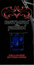 BATMAN AND ROBIN MOVIE WIDESCREEN CELLULOID CARD C-1