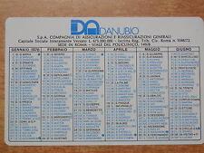 Vecchio calendarietto DANUBIO Assicurazioni 1976 Compagnia di ROMA Generali di