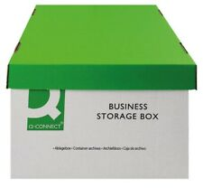 10 ARCHIVE STORAGE BOXES FOR STORING DOCUMENTS AND FILES