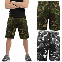 NEW MENS CAMOUFLAGE SHORTS SWEAT JOGGER SUMMER FLEECE FITNESS JOGGING SPORTS GYM