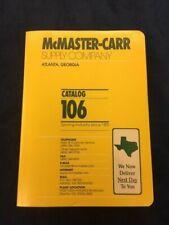 McMaster-Carr Supply Company Catalog 106 Atlanta Georgia 2000 Excellent Cond.