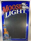 "Moosehead Light Chalkboard  Beer Advertising Moose 3' x 2"" wear read"