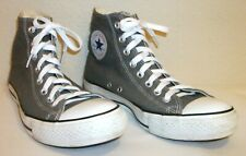 CONVERSE Chuck Taylor CHARCOAL Gray Canvas Hi-Top Sneakers - Size M 8/W 10
