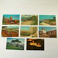 Lot 8 California Postcards Vintage 1950s 1960s 1980s Race Track Disneyland Motel