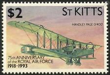 RAF HANDLEY PAGE Type O/400 WWI Biplane Bomber Aircraft Stamp (1993 St Kitts)