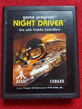 NIGHT DRIVER VIDEO GAME CARTRIDGE ONLY ATARI 2600 PAL