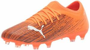 PUMA Men's Ultra 3.1 Firm Ground Soccer Cleats Orange/Black 106086-01 Size 8