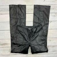 Wilson's Leather Maxima Pants Size 0 Womens Black Moto Biker Riding Lined