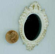 "Miniature Dollhouse Oval Fancy Resin Mirror 2 7/8"" H"