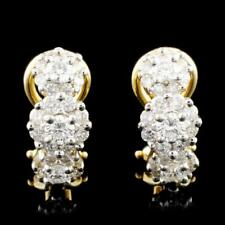 18K Gold 1.44ctw Diamond Earrings Lot 827