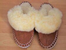 Hausschuhe Damen Pantoffeln Lammfell Schaffell gefüttert rutschfest alle Größen