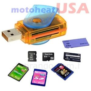 All In One Micro SD to USB Multi-Card Memory Card Adapter Reader Supports 128GB