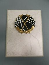 plaque racing checkered flag resin relief 6 x 8 white board trophy award