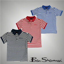 Boys' Striped Button Down Short Sleeve Sleeve T-Shirts & Tops (2-16 Years)