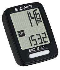 Sigma BC 5.16 kabelgebundener Fahrradcomputer Tacho 5-Funktionen - 05160