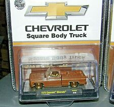 2020 M2 MACHINES 1975 CHEVROLET SQUARE BODY TRUCK GOLD CHASE 1/400 MJS29 CHASE