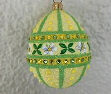 Patricia Breen - Sublime Egg, Daisy Lattice. Fully Glittered. Bejeweled. Nm Excl