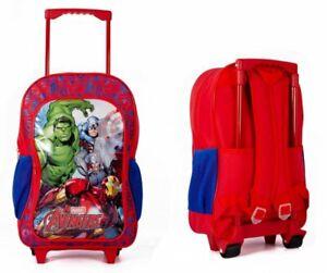 New Kid Avengers Disney Boys TV Character School Wheeled Travel Trolley Backpack