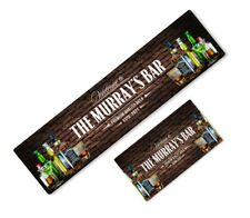 More details for personalised bar runner any text beer mat ideal home pub cafe occasion 53