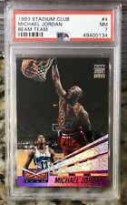PSA 7 1993/94 Topps Stadium Club Beam Team Michael Jordan #4 Bulls HOF