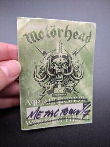 Motorhead Tour Concert Backstage Pass England Lemmy Green