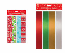 80 Color Foil or Printed Paper Chains Christmas Fun Decorations Peel Stick