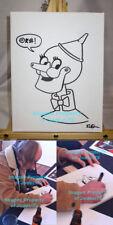 *WHITE STRIPES* Rob Jones Signed Tin Man Original 9x12 Canvas Sketch EXACT PROOF
