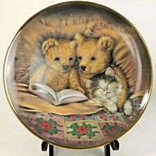 Sue Lewis Limited Edition Collectors Plate 'Bedtime Story' Franklin Mint Vintage