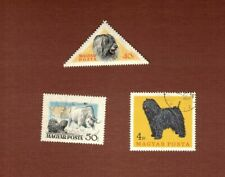 Puli dog stamps set of 3