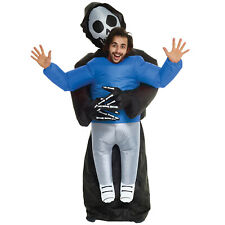 Grim Reaper Inflatable Pick Me Up Costume Adult Scary Halloween Fancy Dress  NEW