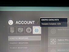 Destiny 2: EXOTIC GUN/WEAPON CATALYST Ps4/Xbox
