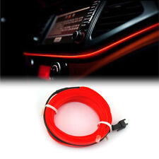 Red LED Car Interior Decor Atmosphere Wire Moulding Strip Light Lamp Line 12V-2M
