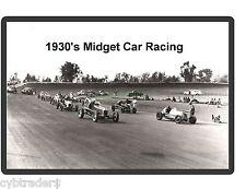 1930's Midget Race Car Racing  Refrigerator / Tool Box Magnet