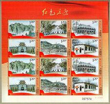 China 2012-14 Red Footprints Stamps Mini Sheet 紅色足跡