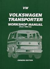 WORKSHOP REPAIR MANUAL VW KOMBI VAN TRANSPORTER 82-89