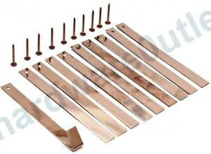 Copper ROOFING STRIPS & COPPER NAILS Roofing Tingle Slate Guillotine Cut