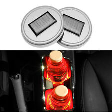 Red Car Solar LED Lamp Coaster Cup Holder Bottom Pad Atmosphere Lamp LED Lights