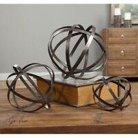 Uttermost Stetson Bronze Spheres (Set of 3)