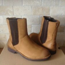 UGG Larra Chestnut Leather Sheepskin Ankle Short Boots Booties Size US 9.5 Women