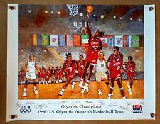 "1996 U.S. OLYMPIC WOMENS BASKETBALL POSTER  28""x 22"""