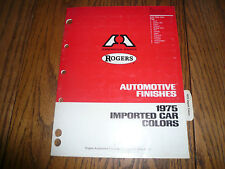 1975 Rogers Imported Car Colors Color Chips Booklet