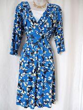 Wallis blau gelb multi Stretch Kleid Größe 14 (EU 42) - NEU