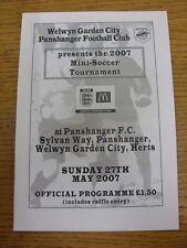 27/05/2007 Programme: Welwyn Garden City Panshanger - Mini-Soccer Tournament [At