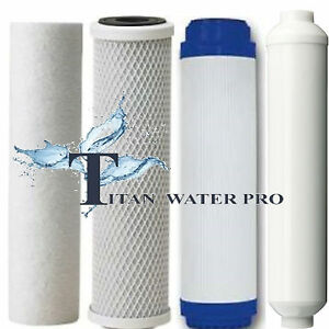 4 REVERSE OSMOSIS DRINKING WATER FILTER SEDIMENT/CARBON