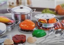 Children's Quality 23 PC Toy Stainless Steel Kitchen Set pots pans  and Accessor