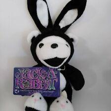Grateful Dead BEAN BEAR Black White JACK-A-RABBIT Plush Doll From Japan