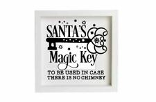 Santa's Magic Key Christmas Decal Vinyl Sticker Box Frames Decoration No Chimney