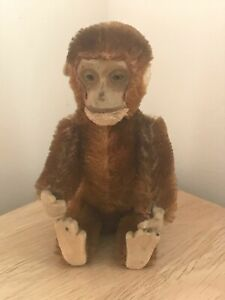 Miniature 1924 German Schuco Perfume/Scent Bottle Piccolo Brown Mohair Monkey
